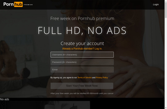 Free porn account